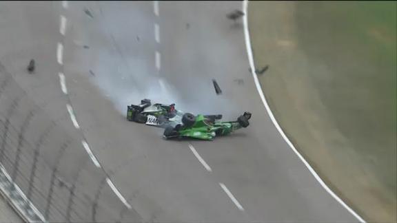 Indycar, in Texas incidente pauroso per Daly e Newgarden
