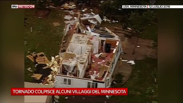 Usa, tornado colpisce villaggi in Minnesota