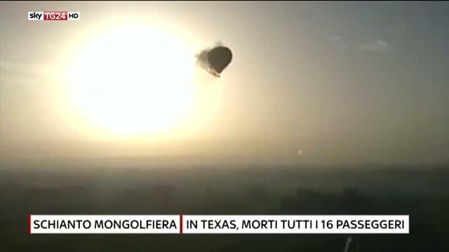 Texas, precipita mongolfiera  16 morti