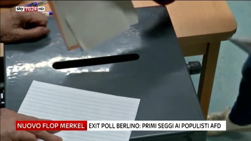 Berlino al voto, nuovo flop di Angela Merkel