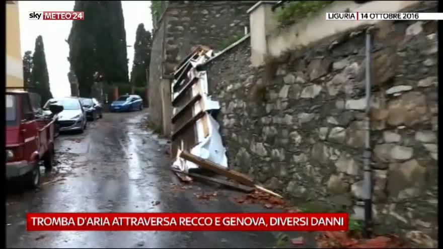 Tromba d'aria attraversa Recco e Genova