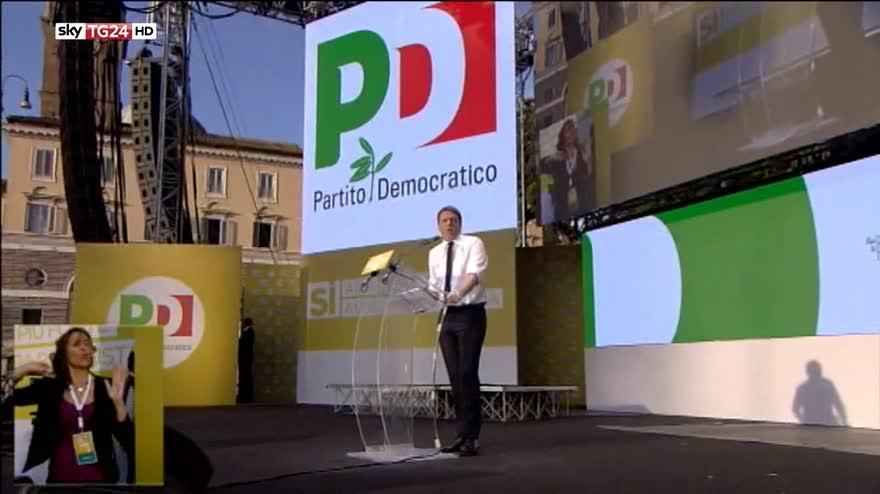 Referendum costituzionale, Pd in piazza a Roma