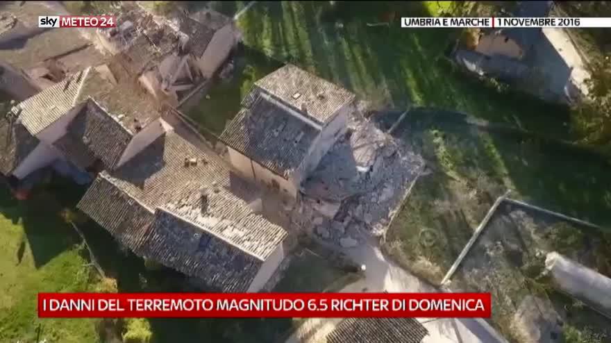 Marche e Umbria, i danni del sisma di domenica 30 ottobre