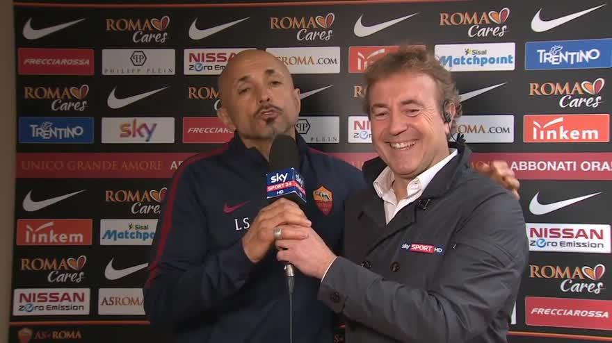 """Spalletti, blitz in diretta: """"Famo 'sto stadio!"""""""