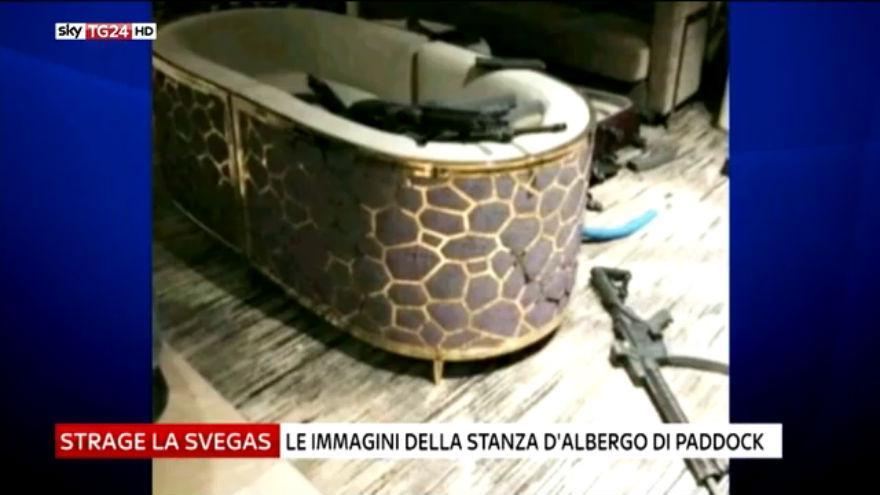 Strage las vegas le immagini della stanza del killer for Disegni della stanza del fango