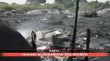 28/05/2008 - Napoli, incendio in campo Rom
