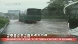 Inondazioni Cina, 72 mila evacuati