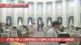 Conferenza stampa Medvedev-Sarkozy