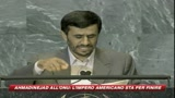 Ahmadinejad all'Onu: L'impero americano sta per finire