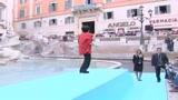 Liza Minnelli, show davanti alla fontana di Trevi