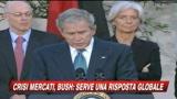 Crisi mercati, Bush: Serve forte risposta globale