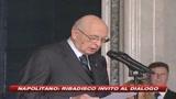 30/10/2008 - Napolitano auspica confronto. E avverte: Rischio recessione