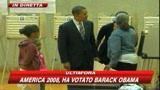 America 2008, le immagini di Obama al voto