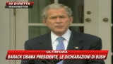 Bush rende onore a Obama: vittoria notevole