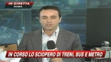 Si fermano treni, bus e metro