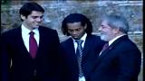 Berlusconi presenta i brasiliani del Milan a Lula