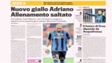 Adriano ha la febbre, salta il Palermo