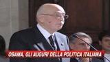 21/01/2009 - Per Obama consenso bipartisan della politica italiana