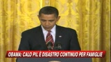 Usa, crolla il Pil: -3,8 per cento. Obama: un disastro