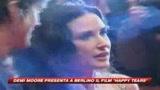 Berlino, lacrime di gioia per Demi Moore