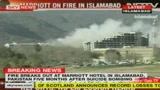 Fiamme all'hotel Marriot di Islamabad