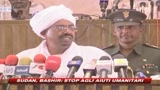 Sudan, Bashir: Stop agli aiuti umanitari