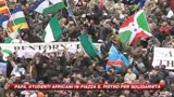 Studenti africani a San Pietro per applaudire il Papa 