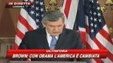 Crisi, Obama: misure aggressive. Brown: regole uniche