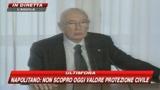 Napolitano: Sforzo Protezione Civile ci inorgoglisce
