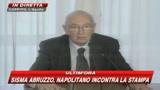 09/04/2009 - Napolitano: Colpito da dignità e spirito adattamento