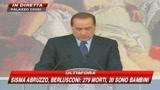 Berlusconi: sospesi pagamenti fisco e bollette sfollati