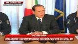 Abruzzo, Berlusconi: aiuti a chi ricostruirà da solo