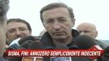 Terremoto Abruzzo, Fini contro Annozero: Indecente