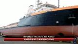 Sulla costa la nave italiana presa dai pirati