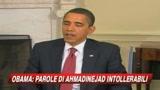 Obama: Parole Ahmadinejad intollerabili