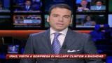 Hillary Clinton in visita a sorpresa a Baghdad