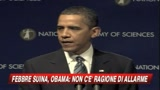 Febbre suina, Obama: preoccupazione ma nessun allarme 