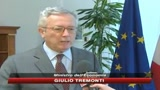 04/05/2009 - Crisi,Tremonti a Franceschini: Governo ha agito bene