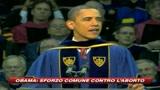 Obama: Sforzo comune contro l'aborto