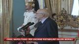 Crisi, Napolitano: in economia serve più moralità