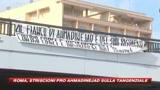 Roma, striscioni pro Ahmadinejad sulla tangenziale
