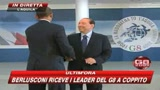G8, Berlusconi riceve i grandi della Terra
