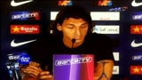 28/07/2009 - Zlatan Ibrahimovic bacia la maglia: Il Barça è un sogno