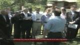 29/07/2009 - Les Combes, il Papa saluta e ringrazia lo staff