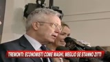 28/08/2009 - Tremonti: E' meglio che gli economisti stiano zitti