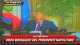 Napolitano: crisi non è finita, conseguenze su lavoro