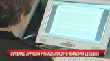 Finanziaria 2010, Tremonti: finite manovre tradizionali