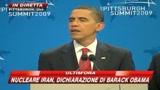 Obama striglia l'Iran: cela un nuovo impianto nucleare