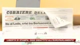 Europarlamento, dibattito sulla libert di stampa