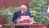 Napolitano: felice di stare con chi guarda al futuro